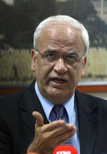 Saeb Erekat - angry at al-Jazeera