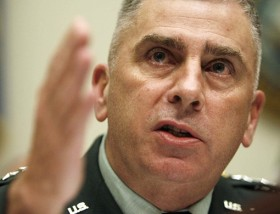 Army General John Abizaid, speaking at Harvard University's Kennedy School of Government on Saturday. <font size=-2>(Source: Reuters)</font>