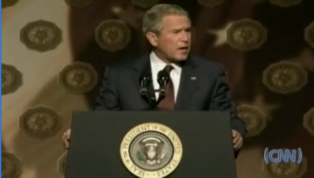 President George Bush, speaking to American Legion National Convention <font size=-2>(Source: CNN)</font>