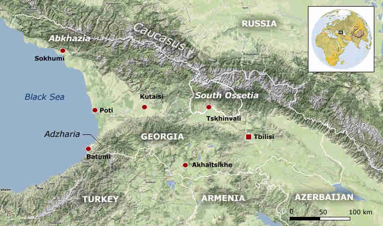 The Caucasus <font face=Arial size=-2>(Source: Der Spiegel)</font>