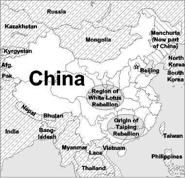 China and adjoining countries<a href=