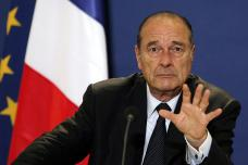 Defiant French President Jacques Chirac <font size=-2>(Source: LeMonde)</font>