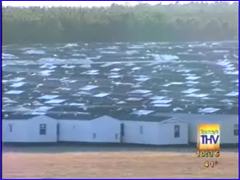 Over 10,000 FEMA mobile homes sit unused in Hope, Arkansas <font size=-2>(Source: KTHV)</font>
