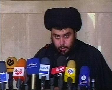 Shiite cleric Moqtada al-Sadr <font size=-2>(Source: SumariaTV)</font>
