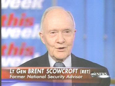 Brent Scowcroft on <i>This Week With George Stephanopoulos</i> <font size=-2>(Source: ABC)</font>