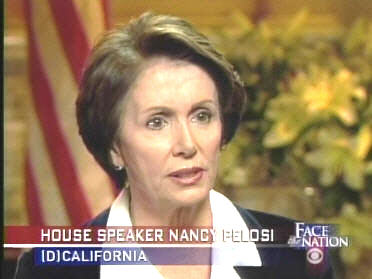 Nancy Pelosi on <i>Face the Nation with Bob Schieffer</i> <font size=-2>(Source: CBS)</font>