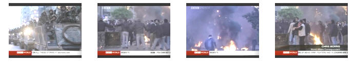 Scenes from BBC coverage of Tuesday's Lebanon protests. <font face=