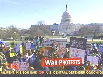 Sparse crowd at Saturday's &quot;antiwar&quot; rally in Washington <font face=Arial size=-2>(Source: CNN)</font>