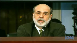 Fed Chairman Ben Bernanke on February 28 <font face=Arial size=-2>(Source: CNN)</font>