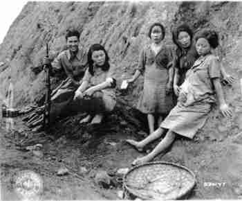 Pregnant World War II comfort women
