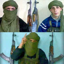 An Islamist web site claims that these three children are the suicide bombers. <font size=-2>(Source: Spiegel)</font>