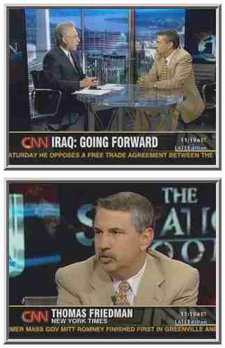 Thomas Friedman interviewed by Wolf Blitzer <font size=-2>(Source: CNN)</font>