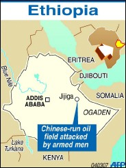 Gunmen attacked a Chinese oil field in Jijiga, in Ethiopia on Tuesday <font size=-2>(Source: turkishpress.com)</font>