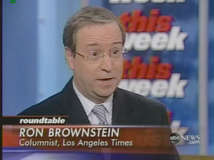 Columnist Ron Brownstein <font size=-2>(Source: ABC)</font>