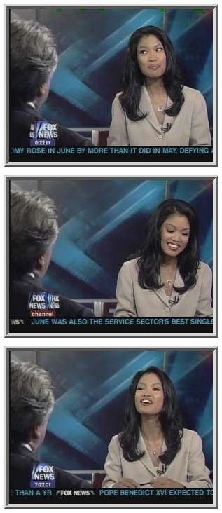 The hot, sexy Michelle Malkin, serving as substitute host. <font face=Arial size=-2>(Source: Fox)</font>