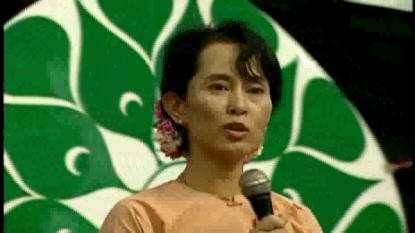 Aung San Suu Kyi in 2003(?) <font face=Arial size=-2>(Source: CNN)</font>