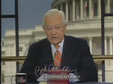 CBS's Bob Schieffer on Face the Nation. <font face=Arial size=-2>(Source: CBS)</font>