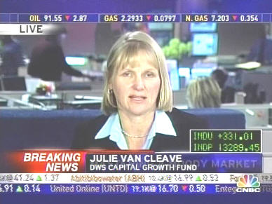 Julie Van Cleave, DWS Capital Growth Fund <font face=Arial size=-2>(Source: CNBC)</font>