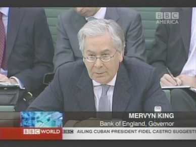 Mervyn King, Governor of Bank of England <font face=Arial size=-2>(Source: BBC)</font>