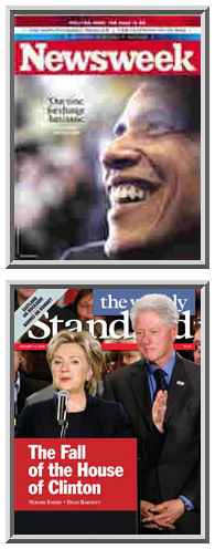 Covers of <i>Newsweek</i> and <i>The Weekly Standard</i>