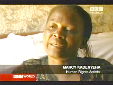 Marcy Kadenyeha, human rights activity, Luo tribe, Kenya <font face=Arial size=-2>(Source: BBC)</font>