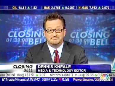 CNBC commentator Dennis Kneale was completely stupified on Tuesday <font face=Arial size=-2>(Source: CNBC)</font>