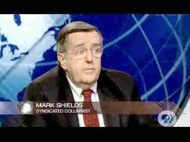 Pundit Mark Shields <font face=Arial size=-2>(Source: PBS)</font>