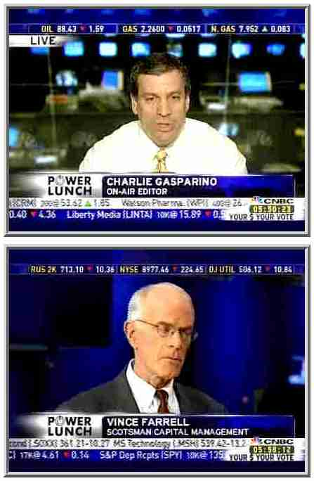 Charlie Gasparino (top) and Vince Farrell <font face=Arial size=-2>(Source: CNBC)</font>