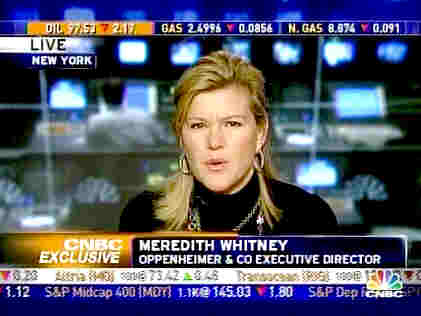 Meredith Whitney <font face=Arial size=-2>(Source: CNBC)</font>
