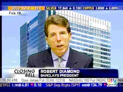 Bob Diamond, Barclays President <font face=Arial size=-2>(Source: CNBC)</font>