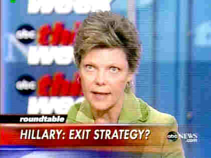 Cokie Roberts saying &quot;cute young man&quot; on <i>This Week With George Stephanopoulos</i>&nbsp; <font size=-2>(Source: ABC)</font>