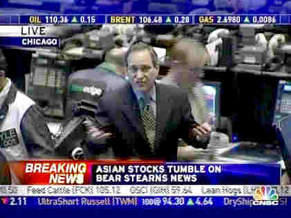 CNBC's Rick Santelli, speaking from the floor of the Chicago Board of Trade (CBOT) <font face=Arial size=-2>(Source: CNBC)</font>
