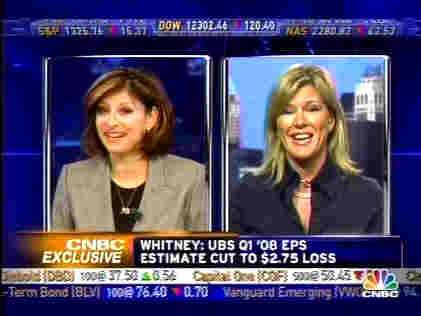 Maria Bartiromo interviews Meredith Whitney <font face=Arial size=-2>(Source: CNBC)</font>