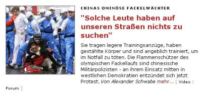 <i>Der Spiegel</i> story saying, &quot;There's no way people like that should be allowed on our streets.&quot;