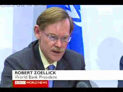 Robert Zoellick, World Bank president <font size=-2>(Source: BBC)</font>