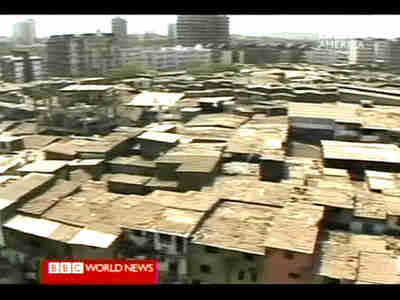 Shanty town in Mumbai (Bombay) India <font size=-2>(Source: BBC)</font>