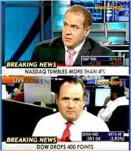 Top: Scott Minerd of Guggenheim Partners. Bottom: John O'Donoghue, Cowen and Company, LLC <font face=Arial size=-2>(Source: Bloomberg)</font>