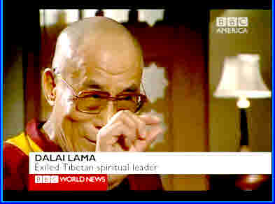 Dalai Lama describes his faith in China's government. <font face=Arial size=-2>(Source: BBC)</font>