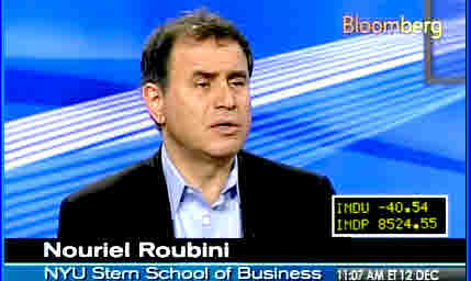 Nouriel Roubini <font face=Arial size=-2>(Source: Bloomberg)</font>