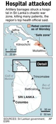 Sri Lanka 'safe zone' attacked <font face=Arial size=-2>(Source: csmonitor.com)</font>