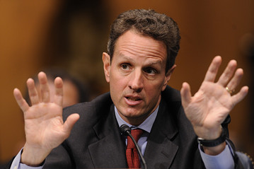 Timothy Geithner, Secretary of the Treasury, testifying before Congress in 2009