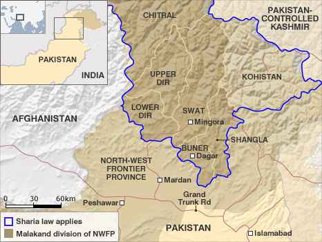 Northwest Pakistan <font face=Arial size=-2>(Source: BBC)</font>