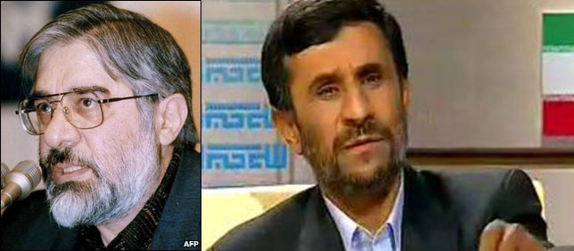 Mir-Hossein Mousavi and Mahmoud Ahmadinejad