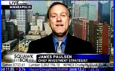 James Paulsen, chief investment strategist at Wells Capital Management <font face=Arial size=-2>(Source: CNBC)</font>