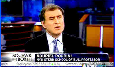 Nouriel Roubini <font face=Arial size=-2>(Source: CNBC)</font>