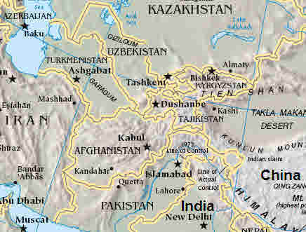 Central Asia <font size=-2>(Source: CIA Fact Book)</font>