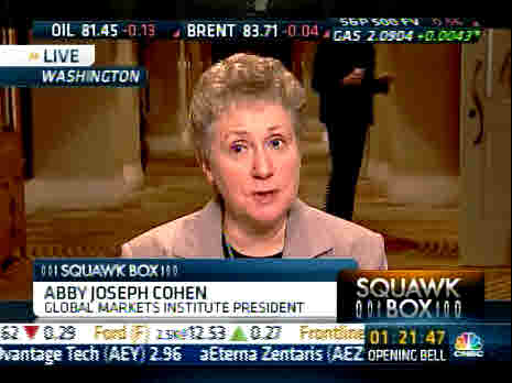 Abby Joseph Cohen, Goldman Sachs <font face=Arial size=-2>(Source: CNBC)</font>