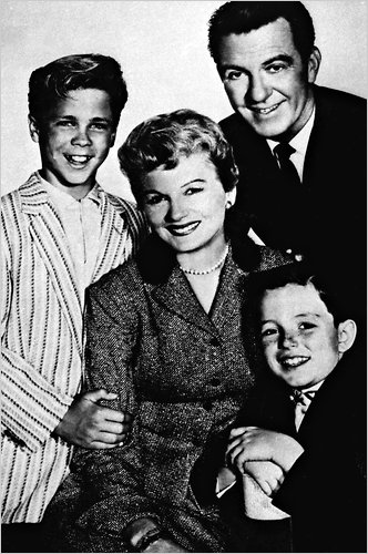 The Cleaver family on 'Leave it to Beaver': (from left) Wally, Mom, Dad and 'The Beav' (AP)