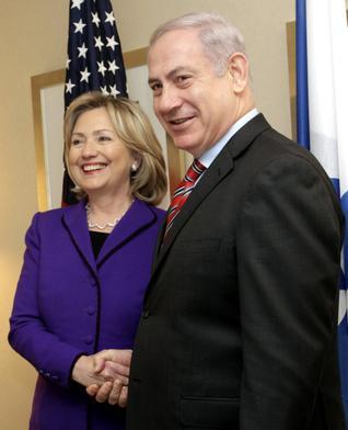 Hillary Rodham Clinton and Benjamin Netanyahu (AP)