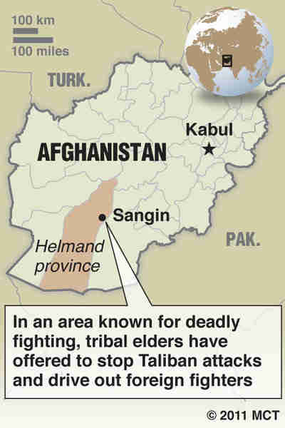 Helmand's Sangin district in Afghanistan (McClatchy)